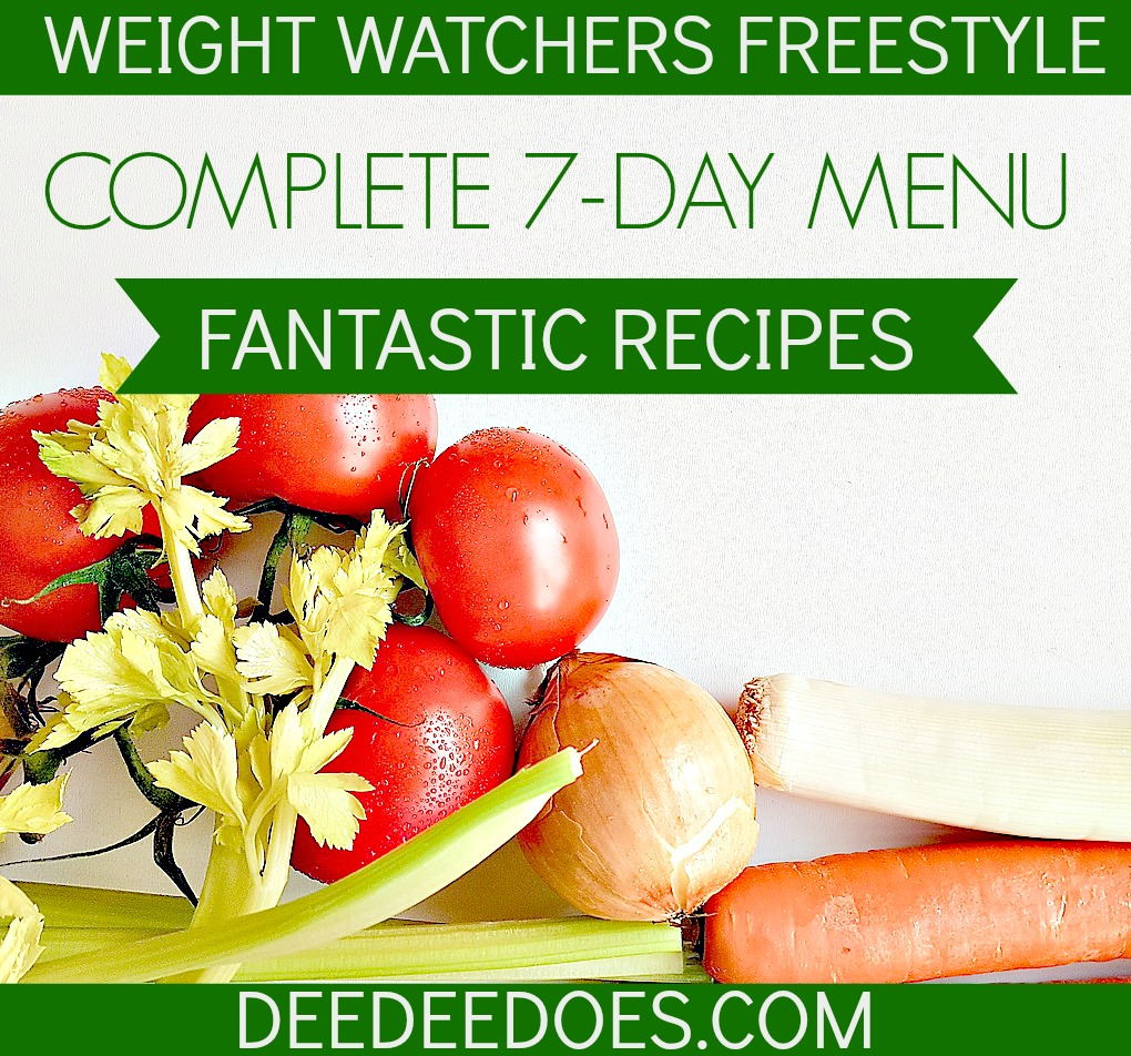 Weight Watchers Freestyle Weekly Menu Healthy Recipes