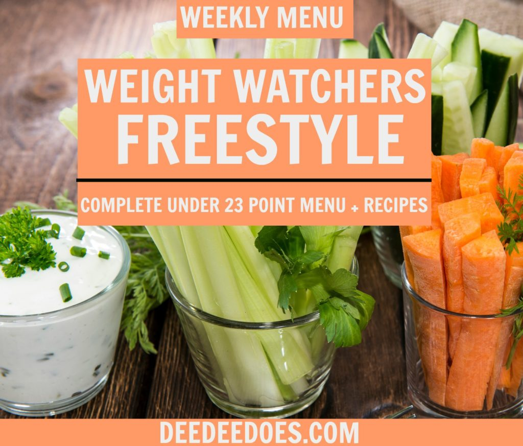 Weight Watchers Freestyle Under 23 Point Menu