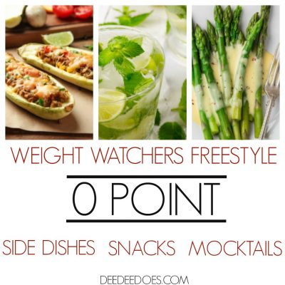 Weight Watchers Freestyle 0 Point Side Dishes, Snacks and Mocktails