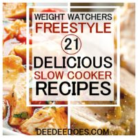 Delicious healthy Weight Watchers slow cooker/crockpot recipes