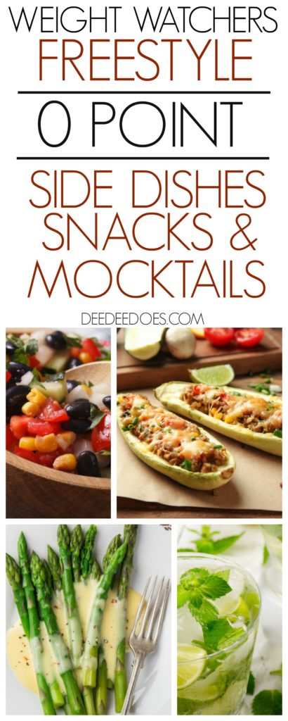 Weight Watchers Freestyle 0 Point Side Dishes Snacks Mocktails
