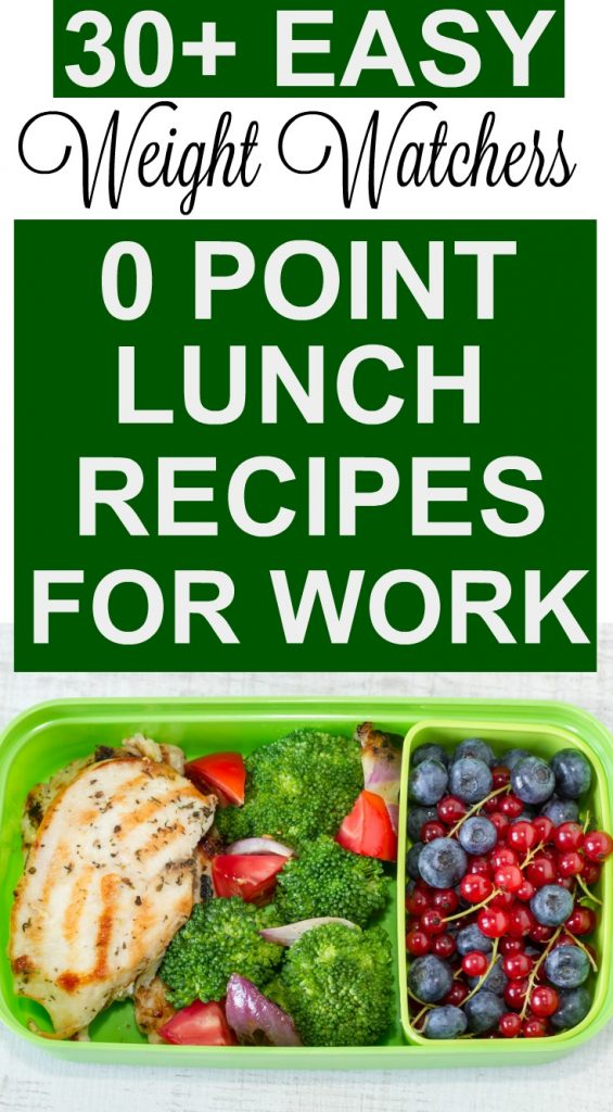 Weight Watchers Easy Make Ahead Zero Point Lunch Recipes