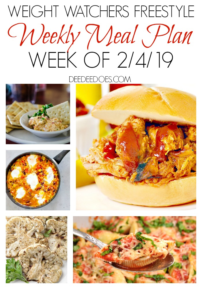 Weight Watchers Freestyle Weekly Meal Plan for Weight Loss Week 2/4/19