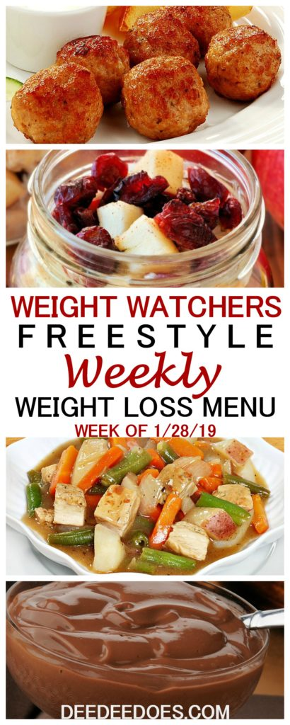 Weight Watchers Freestyle Weekly Meal Plan Weight Loss week 1/28/19