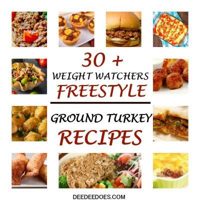 Over 30 Weight Watchers Freestyle Recipes Using 0 Point Ground Turkey or Chicken