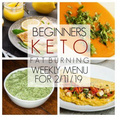 Keto Weekly Meal Plan for Beginners – Week of 2/11/19