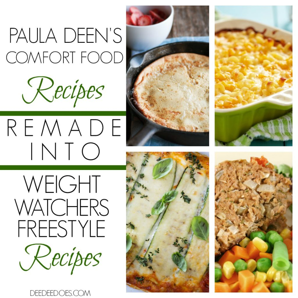 Paula Deen's Comfort Food Recipes Remade Weight Watchers Freestyle