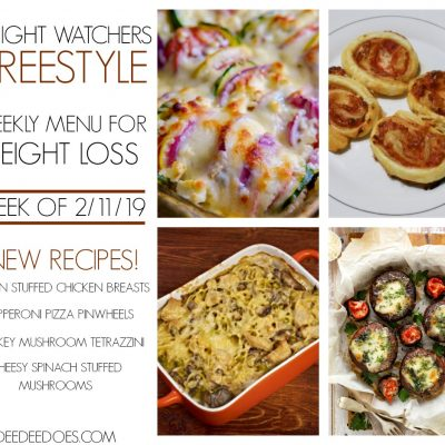 Weight Watchers Freestyle Weekly Meal Plan for Weight Loss – Week of 2/11/19
