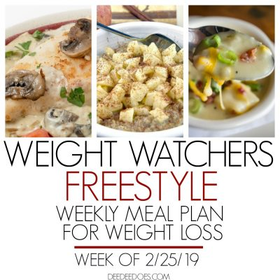 Weight Watchers Freestyle Weekly Meal Plan for Weight Loss – Week of 2/25/19