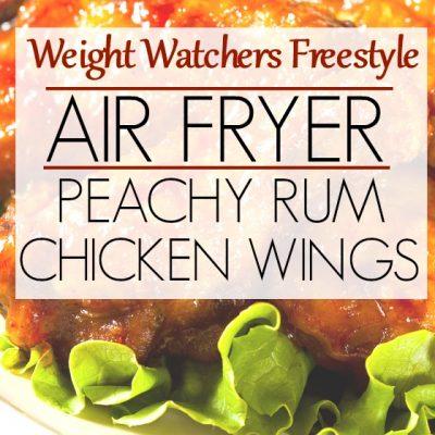 Weight Watchers Recipe for Air Fryer Peachy Rum Wings