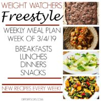 Weight Watchers Freestyle Weekly Meal Plan Weight Loss Week 3/4/19