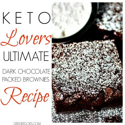 Ultimate Keto Lovers Dark Chocolate Packed Brownies Recipe