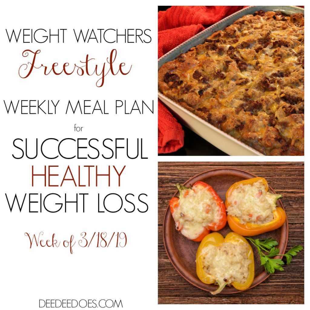 Weight Watchers Freestyle Mouth Watering Weekly Meal Plan Weight Loss Week 3/18/19