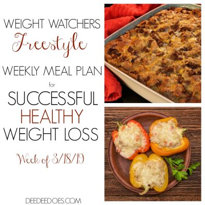 Weight Watchers Freestyle Mouth Watering Weekly Meal Plan for Weight Loss – Week of 3/18/19