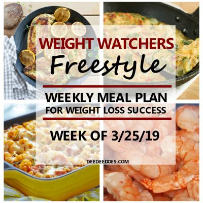 Lip Smacking Weight Watchers Freestyle Weekly Meal Plan for Weight Loss Success – Week of 3/25/19