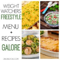 Weight Watchers Freestyle Menu Ideas + Brand New Recipes Week 4/1/19