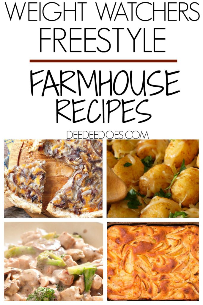 Weight Watchers Freestyle Printable Farmhouse Recipes