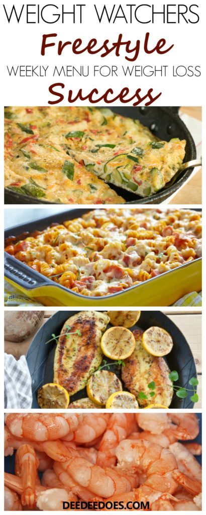 Weight Watchers Freestyle Weekly Meal Plan Weight Loss Success Week 3/25/19