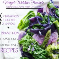 Weight Watchers Freestyle Weekly Meal Plan Healthy Weight Loss Week 3/11/19