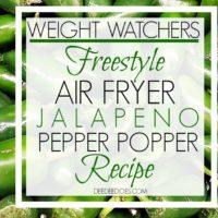 Weight Watchers Freestyle Air Fryer Jalapeno Pepper Popper Recipe