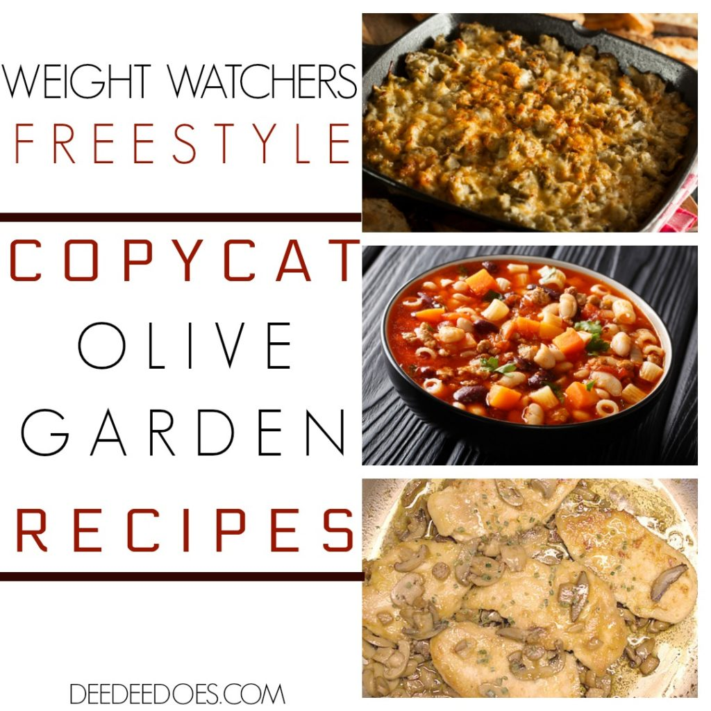 Copycat Olive Garden Restaurant Recipes Remade Weight Watchers Freestyle