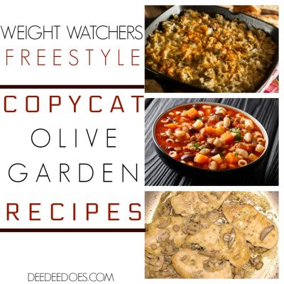 Copycat Olive Garden Restaurant Recipes Remade for Weight Watchers Freestyle