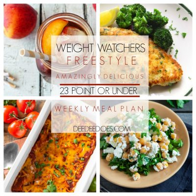 Weight Watchers Freestyle Weekly 23 Point or Under Meal Plan – Week of 4/8/19