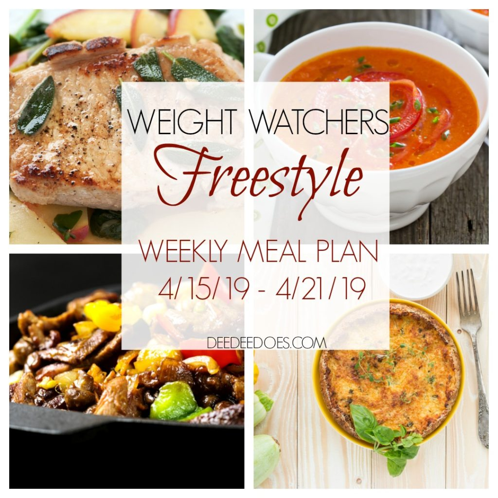 Weight Watchers Freestyle Weekly Meal Plan Weight Loss Week 4/15/19