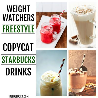 Weight Watchers Copycat Starbucks Drinks for all 3 Plans