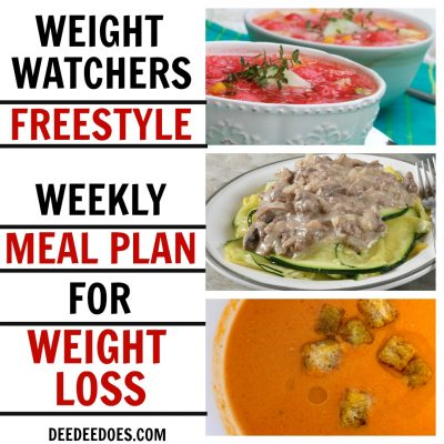 Weight Watchers Weekly Meal Plan – Week of 5/13/19