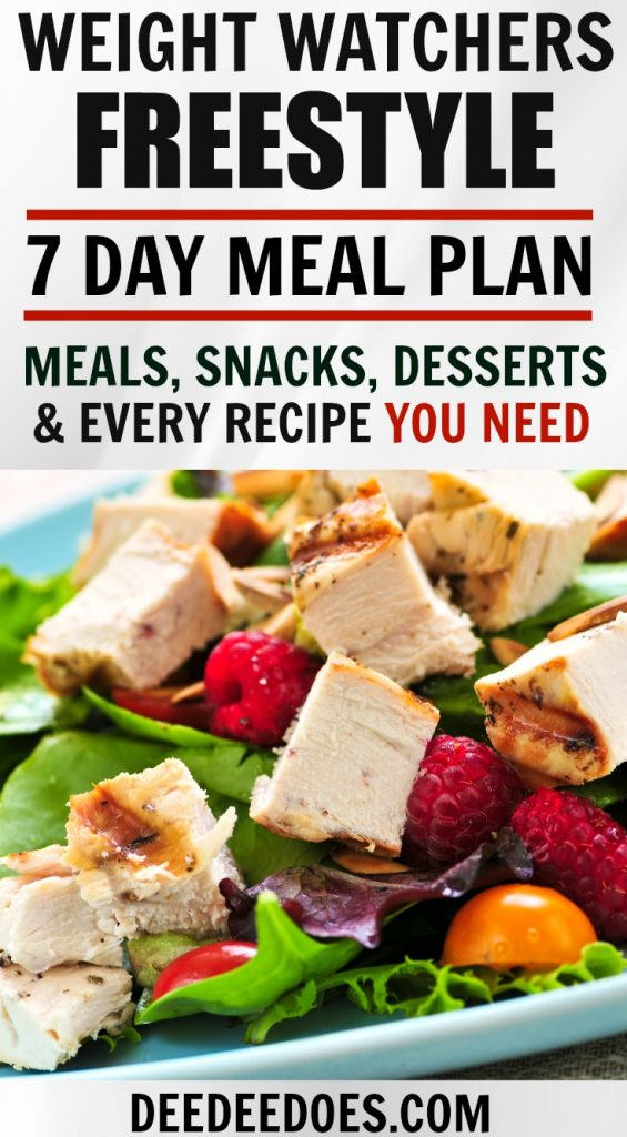 Weight Watchers Freestyle Weekly Meal Plan