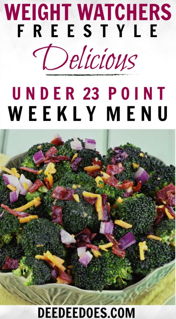 FANTASTIC Weight Watchers Freestyle Weekly Meal Plan