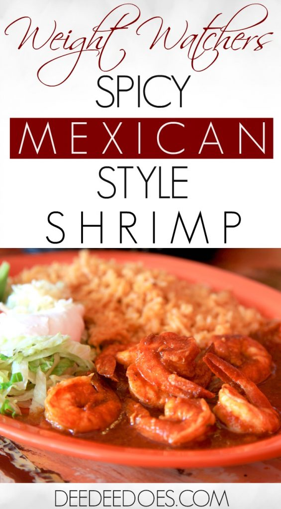 Skinny Spicy Mexican Style Shrimp