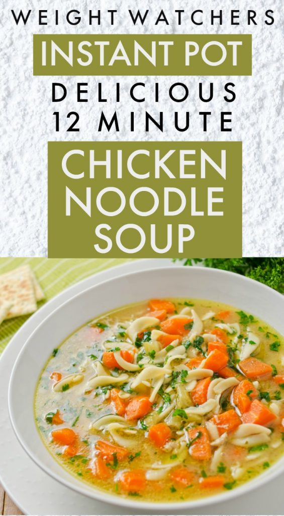 Weight Watchers Instant Pot Chicken Noodle Soup