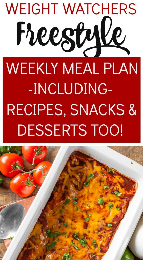 Weight Watchers Freestyle Weekly Meal Plan Week 11/19/19