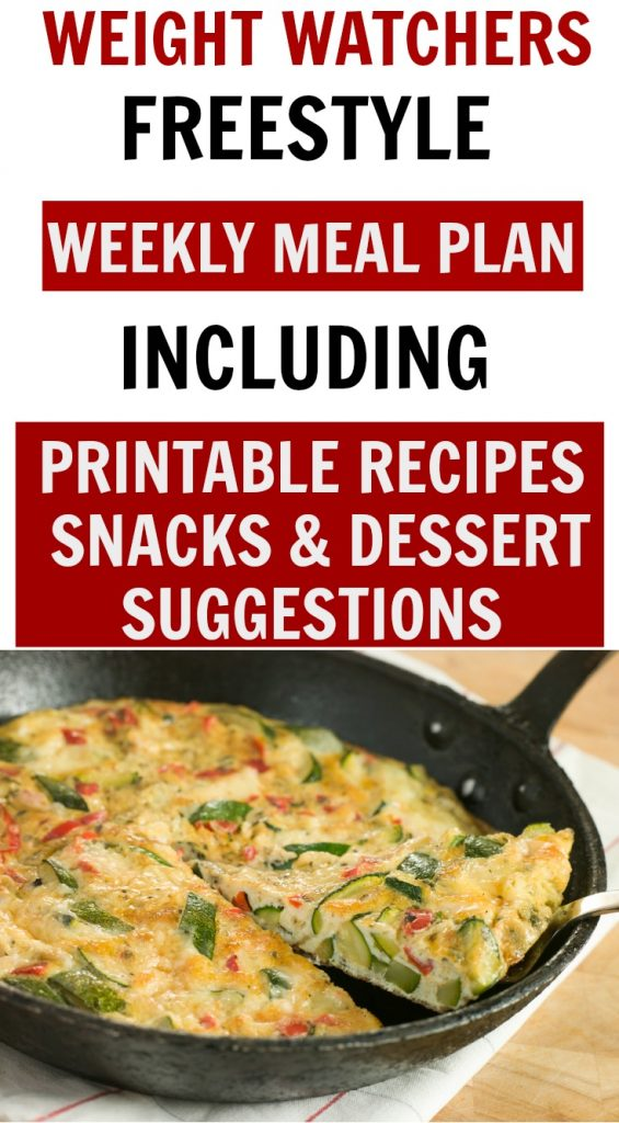 Weight Watchers Freestyle Weekly Meal Plan Week 12/23/19-12/31/19