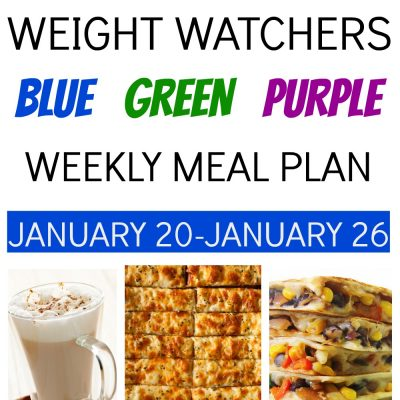 Weight Watchers Weekly Meal Plan for All Plans (January 20-January 26)