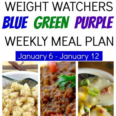 DeeDeeDoes Weight Watchers Weekly Meal Plan & SmartPoints