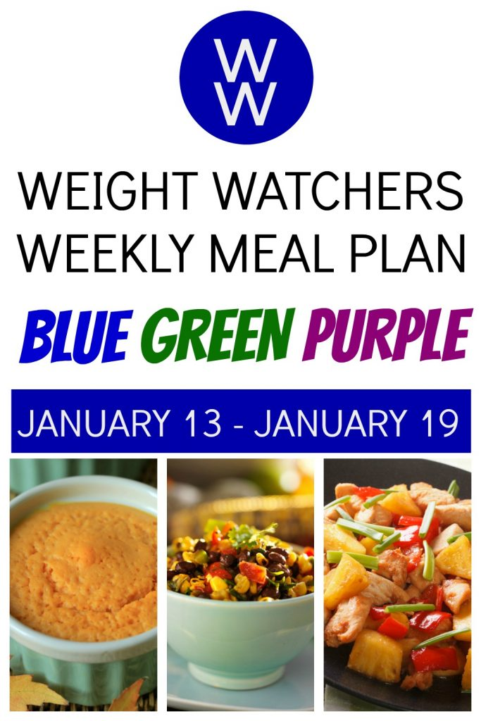 Weight Watchers Weekly Meal Plan (January 13 - January 19)