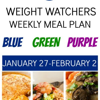 Weight Watchers Weekly Meal Plan for All Plans (January 27-February 2)