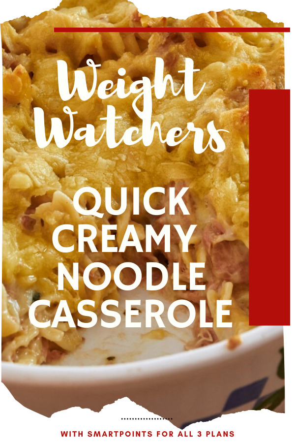 Weight Watchers Quick Creamy Noodle Casserole by DeeDeeDoes.com