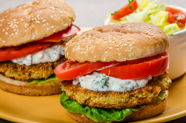 Weight Watchers Chickpea Burgers with Cucumber Yogurt Sauce