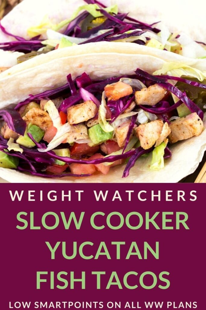 Picture of Slow Cooker Yucatan Fish Tacos + Weight Watchers Recipe
