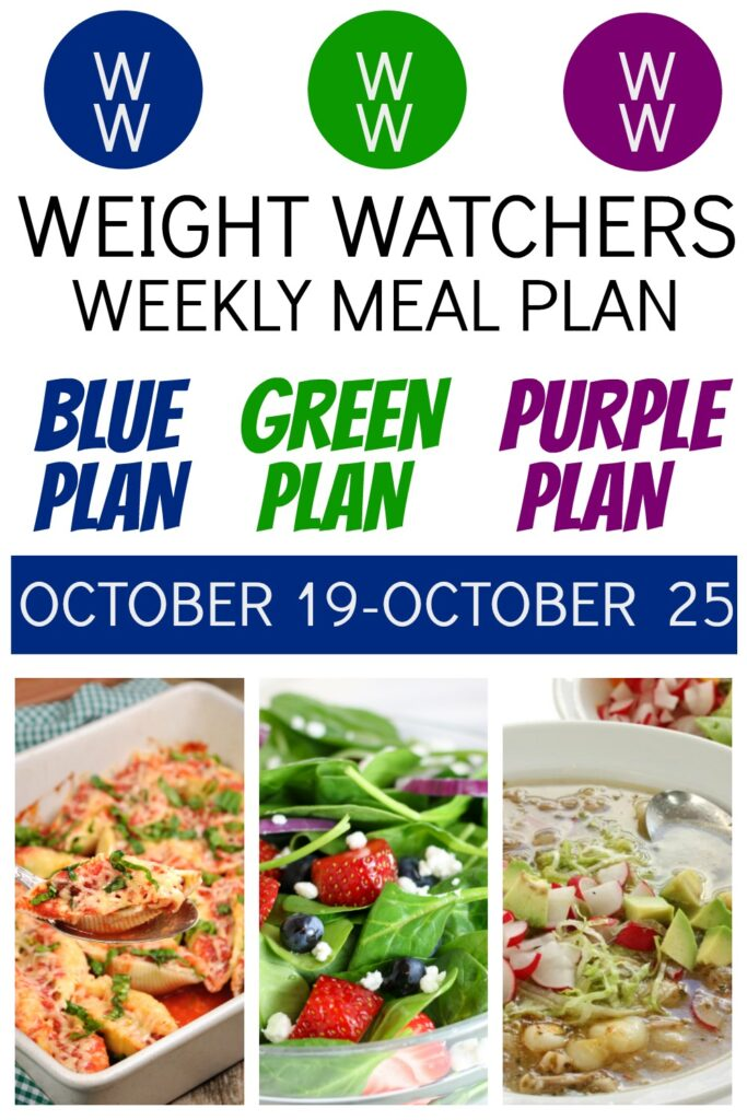 PINTEREST PIN OF Weight Watchers Recipes + Healthy Meal Plan (10/19-10/25)