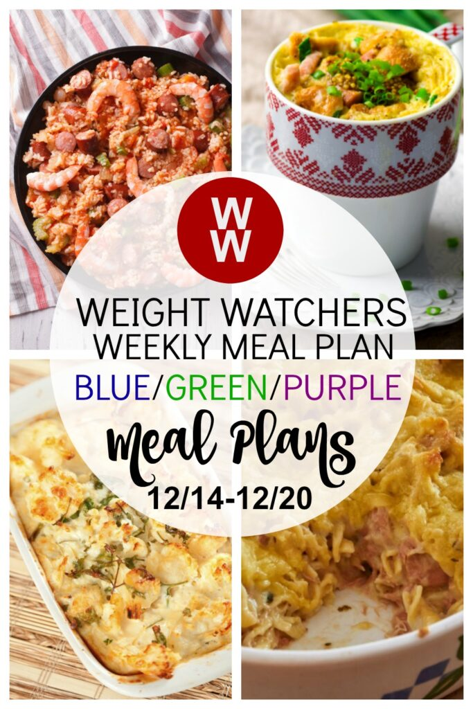 pinterest pin of Weight Watchers Recipes + Healthy Meal Plan (12/14-12/20) from deedeedoes.com