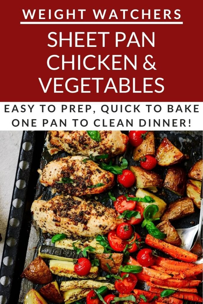 Easy Sheet Pan Roasted Chicken & Vegetables Dinner