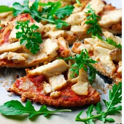 Easy Cauliflower Crust Barbecue Chicken Pizza + Weight Watchers Recipe
