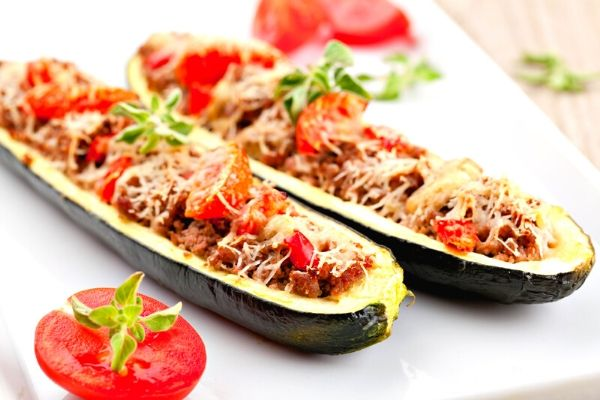 Healthy Italian Stuffed Zucchini Recipe + Weight Watchers Recipe