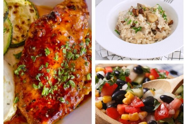 Slow Cooker Cola Chicken, Cauliflower Mushroom Risotto & Black Bean and Corn Salad with Sweet Lime Dressing - Pictures of DeeDeeDoes.com Weight Watchers Recipes