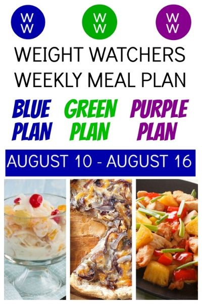 Pinterest Pin of DeeDeeDoes Post on Weight Watchers Recipes + Meal PLan